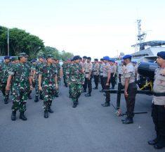 Pangdam Hasanuddin Hadiri Penutupan Latihan Operasi Penanggulangan Bencana Koarmada II